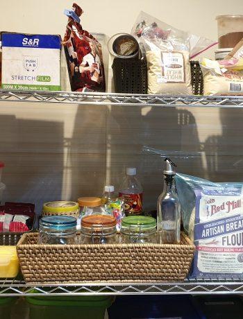 Shelf of ingredients