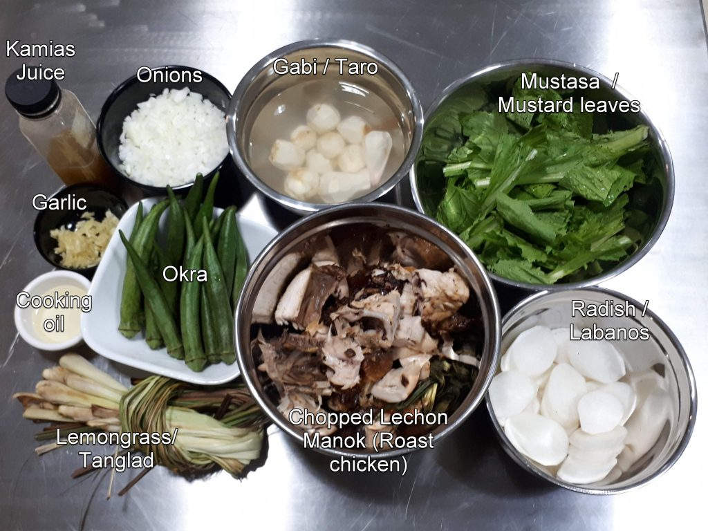 Ingredients for Lechon Sinigang