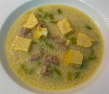 Chicken Asparagus Soup with Creme Royal