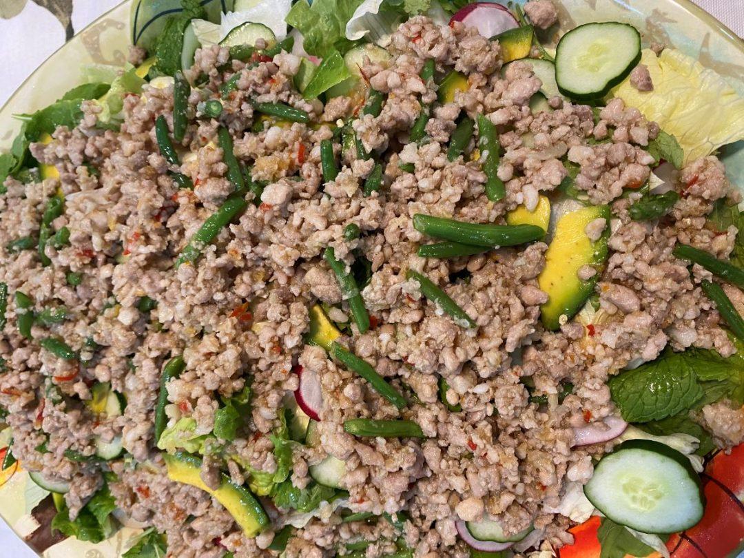 Thai Larb warm chicken salad