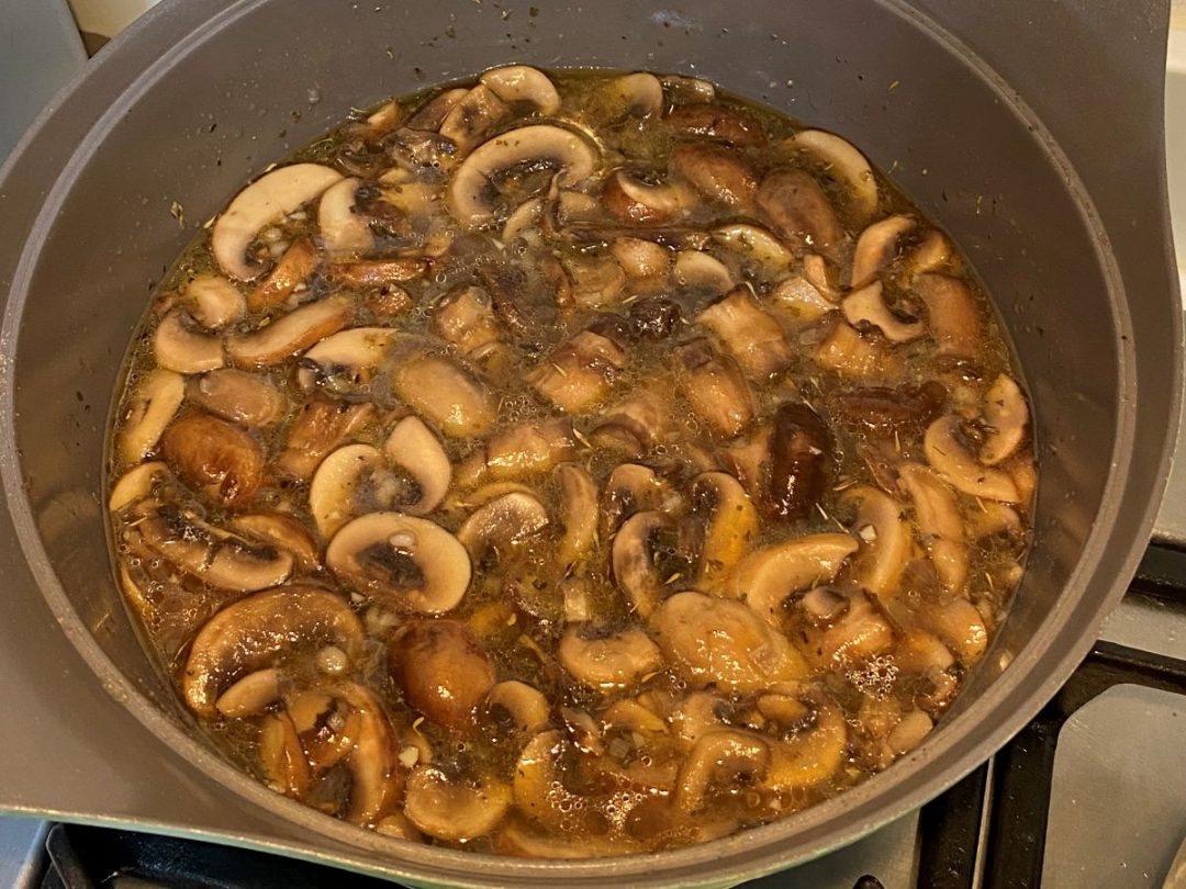 Mushroom Soup in Clear Broth