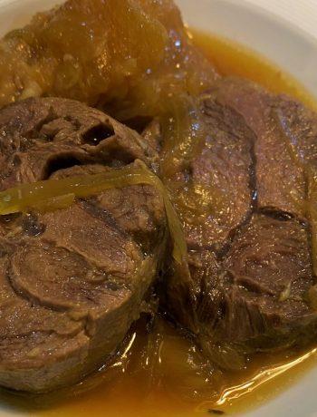 Beef shank asado