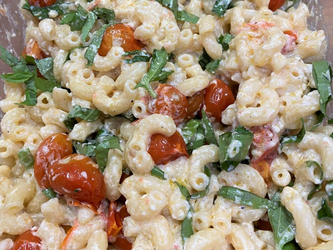 Cherry Tomato and Feta Cheese Pasta